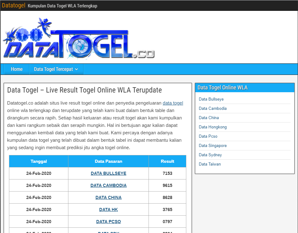 data togel